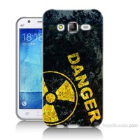 Teknomeg Samsung Galaxy J7 Kapak Kılıf Tehlikeli Baskılı Silikon