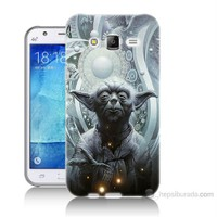 Teknomeg Samsung Galaxy J7 Kapak Kılıf Güç Uyanıyor Yoda Baskılı Silikon