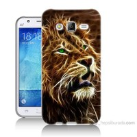 Teknomeg Samsung Galaxy J7 Kapak Kılıf Aslan Baskılı Silikon