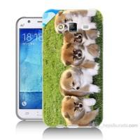 Teknomeg Samsung Galaxy J7 Kapak Kılıf Sevimli Köpek Baskılı Silikon