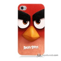 Teknomeg İphone 4S Kapak Kılıf Angry Birds Baskılı Silikon