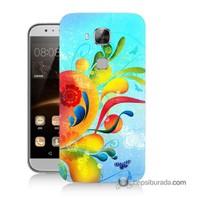 Teknomeg Huawei G8 Kapak Kılıf Renkli Desen Baskılı Silikon