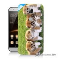 Teknomeg Huawei G8 Kapak Kılıf Sevimli Köpek Baskılı Silikon