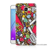 Teknomeg Samsung Galaxy A3 2016 Kılıf Kapak Cephane Baskılı Silikon