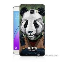 Teknomeg Samsung Galaxy A3 2016 Kapak Kılıf İşçi Panda Baskılı Silikon