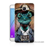 Teknomeg Samsung Galaxy A7 2016 Kılıf Kapak İguana Adam Baskılı Silikon