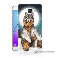 Teknomeg Samsung Galaxy A7 2016 Kapak Kılıf Postlu Ayı Baskılı Silikon