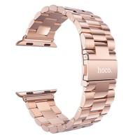 Hoco Apple Watch 42 Mm 3 Bakla Kayış Paslanmaz Çelik Rose Gold