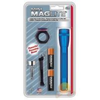 Maglite Mmaa/mavi Fener-combo Set (anahtarlık+yaka Klipsi+ 3 Ad.renkli Cam)