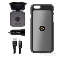 Mountr iPhone 6 Plus Uyumlu Akıllı Araç Tutacağı ( Gri Kapak ) - SK-SCM-i6PG