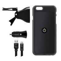 Mountr iPhone 6 Plus Uyumlu Akıllı Araç Tutacağı ( Siyah Kapak ) - SK-SCM-i6PB