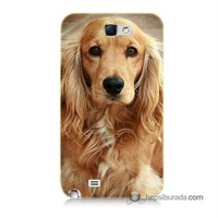 Teknomeg Samsung Galaxy Note 2 Kapak Kılıf Köpek Baskılı Silikon