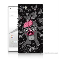 Teknomeg Sony Xperia Z5 Mini The Birds Baskılı Silikon Kılıf