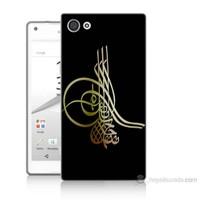 Teknomeg Sony Xperia Z5 Mini Tuğra Osmanlı Baskılı Silikon Kılıf