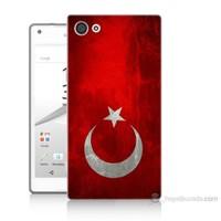 Teknomeg Sony Xperia Z5 Mini Türkiye Bayrağı Baskılı Silikon Kılıf