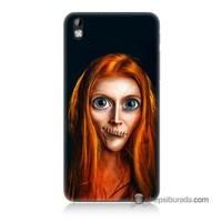 Teknomeg Htc Desire 816 Kılıf Kapak Zombie Kız Baskılı Silikon