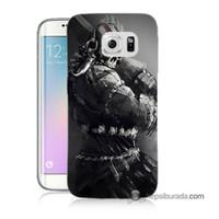 Teknomeg Samsung Galaxy S6 Edge Kılıf Kapak Tribal Warrior Baskılı Silikon