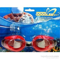 Vardem Kulak Tıkaçlı Yüzücü Gözlüğü (Kırmızı) 2088A