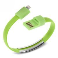 Codegen Apple iPhone 5/6/6s serisi uyumlu Bileklik Şarj Data Kablosu Yeşil - 599010228