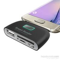 Kılıfshop Samsung Galaxy S7 Hdtv Adaptörü Otg Kart Okuyucu