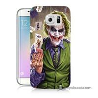 Teknomeg Samsung Galaxy S6 Edge Plus Kılıf Kapak Kartlı Joker Baskılı Silikon