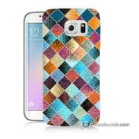Teknomeg Samsung Galaxy S6 Edge Plus Kılıf Kapak Kırkyama Baskılı Silikon