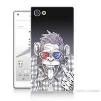 Teknomeg Sony Xperia Z5 Mini Maymun Baskılı Silikon Kılıf