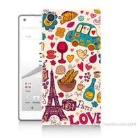 Teknomeg Sony Xperia Z5 Mini Paris Love Baskılı Silikon Kılıf