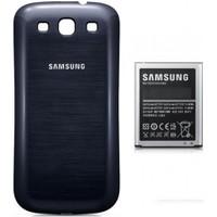 Samsung i9300 S3 Batarya + Kapak (2100 mAh) Siyah