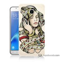 Teknomeg Samsung J5 2016 Kapak Kılıf Müzik Aşkı Baskılı Silikon