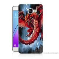 Teknomeg Samsung Galaxy A5 2016 Kapak Kılıf Dragon Baskılı Silikon