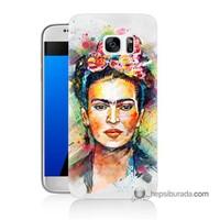 Teknomeg Samsung Galaxy S7 Kapak Kılıf Frida Baskılı Silikon