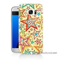 Teknomeg Samsung Galaxy S7 Kılıf Kapak Yıldızlar Baskılı Silikon