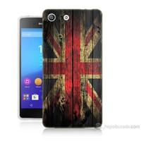 Teknomeg Sony Xperia M5 İngiliz Bayrağı Baskılı Silikon Kılıf