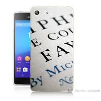 Teknomeg Sony Xperia M5 Yazılar Baskılı Silikon Kılıf