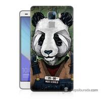 Teknomeg Huawei Honor 7 Kapak Kılıf İşçi Panda Baskılı Silikon