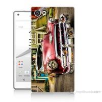 Teknomeg Sony Xperia Z5 Klasik Araba Baskılı Silikon Kılıf