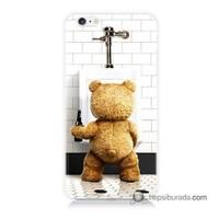 Teknomeg İphone 6 Plus Kılıf Kapak Tedy Bear Baskılı Silikon