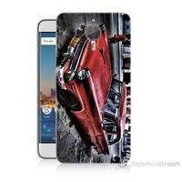 Teknomeg General Mobile Gm5 Plus Klasik Araba Baskılı Silikon Kılıf