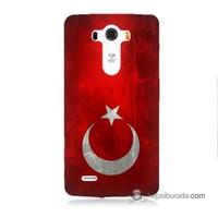 Teknomeg Lg G3 Kılıf Kapak Türkiye Bayrağı Baskılı Silikon