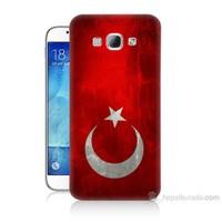 Teknomeg Samsung Galaxy A8 Türkiye Bayrağı Baskılı Silikon Kılıf