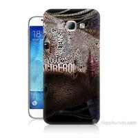 Teknomeg Samsung Galaxy A8 Yazılı Kadın Baskılı Silikon Kılıf