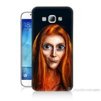Teknomeg Samsung Galaxy A8 Zombie Kız Baskılı Silikon Kılıf