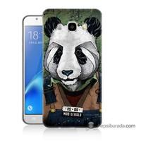 Teknomeg Samsung J5 2016 Kapak Kılıf İşçi Panda Baskılı Silikon