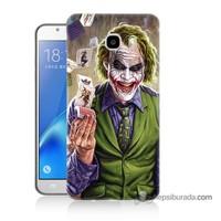 Teknomeg Samsung J5 2016 Kılıf Kapak Kartlı Joker Baskılı Silikon