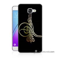 Teknomeg Samsung Galaxy A3 2016 Kılıf Kapak Tuğra Osmanlı Baskılı Silikon