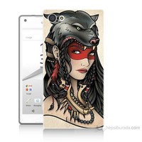 Teknomeg Sony Xperia Z5 Pocahontas Baskılı Silikon Kılıf