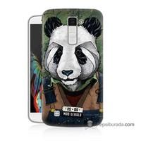 Teknomeg Lg K10 Kapak Kılıf İşçi Panda Baskılı Silikon