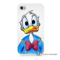 Teknomeg İphone 4 Kapak Kılıf Donald Duck Baskılı Silikon