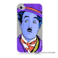 Teknomeg İphone 4 Kapak Kılıf Charlie Chaplin Baskılı Silikon